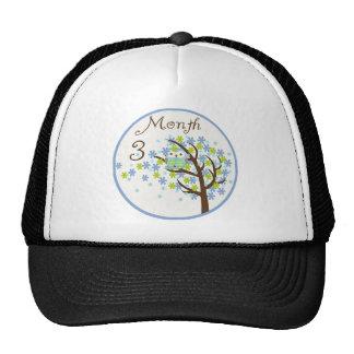 Tree Owl Milestone Month 3 Trucker Hat
