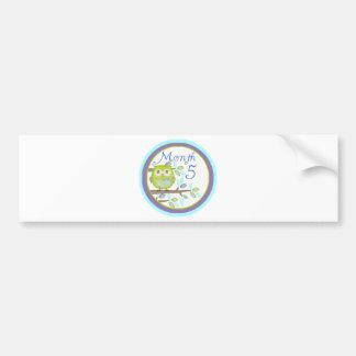 Tree Owl Milestone Month 5 Bumper Sticker