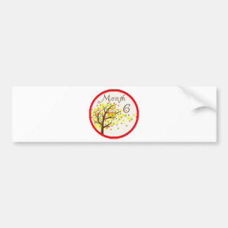 Tree Owl Milestone Month 6 Bumper Sticker