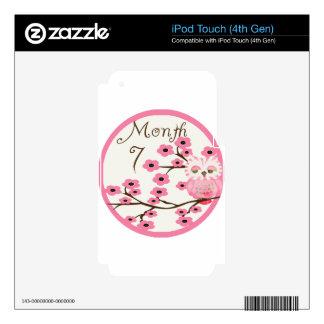 Tree Owl Milestone Month 7 iPod Touch 4G Skin