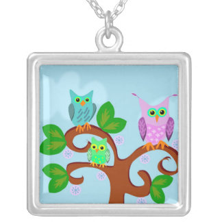 Tree Owl Necklace
