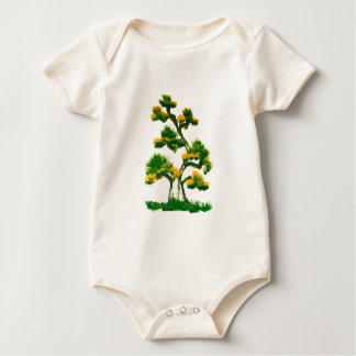 Tree Painting by Elephant Baby Bodysuit