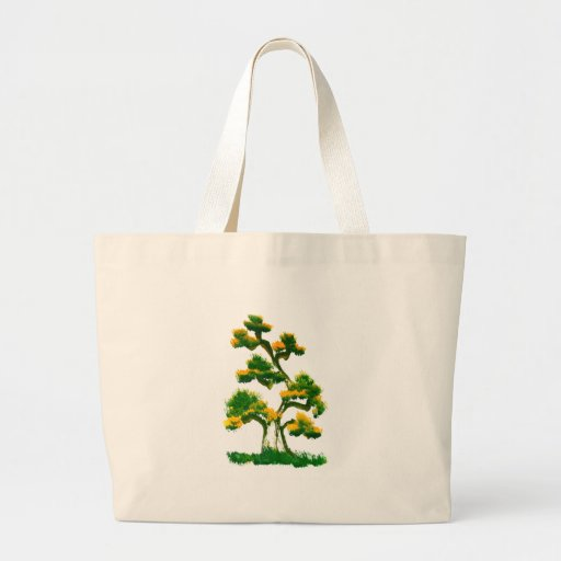 Tree Painting by Elephant Canvas Bags