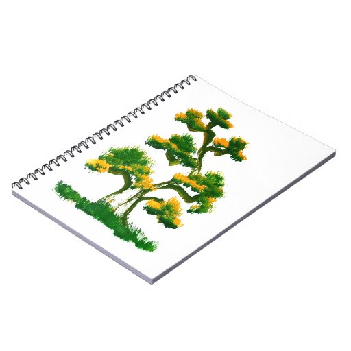 Tree Painting by Elephant Spiral Note Books