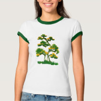 Tree Painting by Elephant T-Shirt