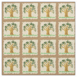 Tree Patch Cotton Fabric