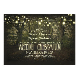 Tree Path rustic wedding invitation