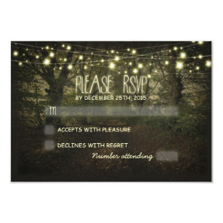"Tree Path rustic wedding RSVP cards 3.5"" X 5"" Invitation Card"