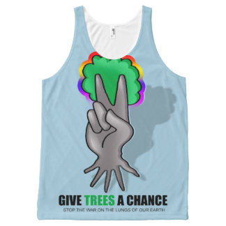 tree peace All-Over print tank top