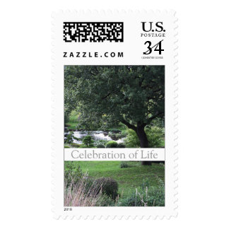 Tree Peaceful Garden 1 Celebration of Life Stamps