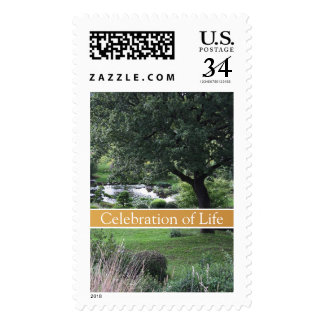 Tree Peaceful Garden 2G Celebration of Life Stamps