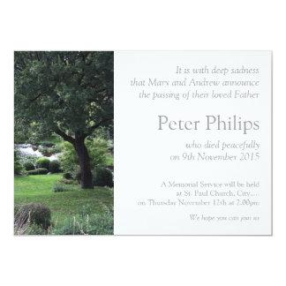 Tree Peaceful Garden 6 Funeral Announcement