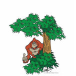 Tree Peeking Sasquatch Photo Sculpture