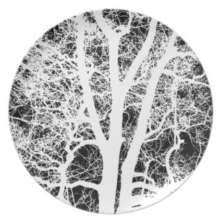 Tree Photography on Dinner Plate
