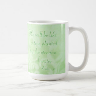 Tree Planted by Streams Paisley Ceramic Mug, Green Coffee Mug