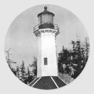 Tree Point Lighthouse Classic Round Sticker