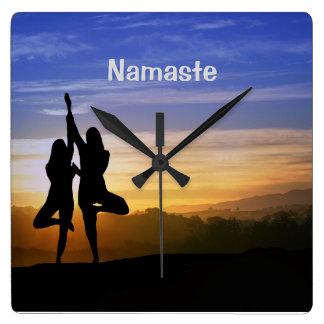 Tree Pose Namaste Yoga Clock