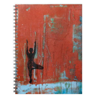 Tree Pose Yoga Girl Photo Notebook
