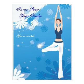 Tree Pose Yoga Stationery Card Personalized Invita