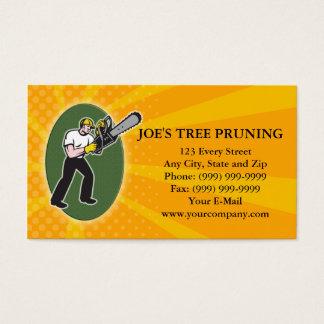 Tree Pruner Tree Surgeon Arborist Business Card