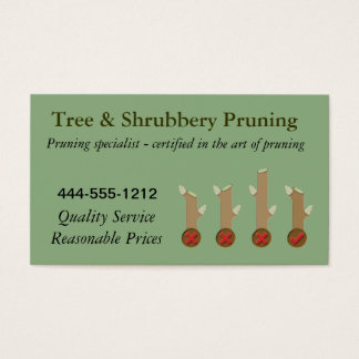 Tree Pruning Business Card examples customizable