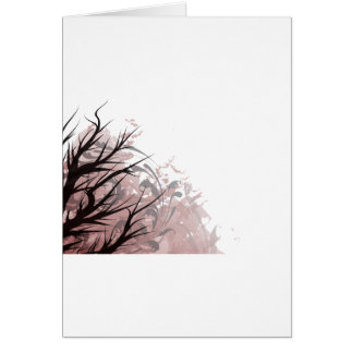 Tree purple floral left side card