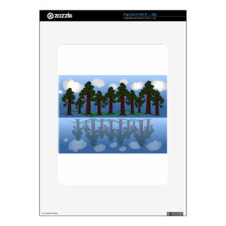 tree reflection decal for the iPad