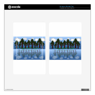tree reflection decals for kindle fire