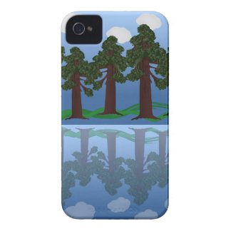 tree reflection iPhone 4 Case-Mate case