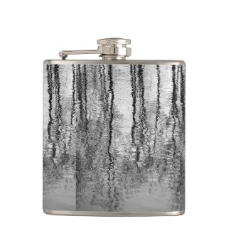Tree Reflections Abstract Flask