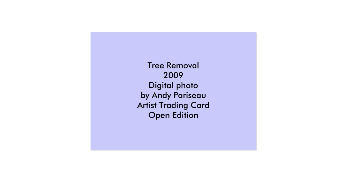 Tree removal atc large business card zazzle for Tree removal business cards