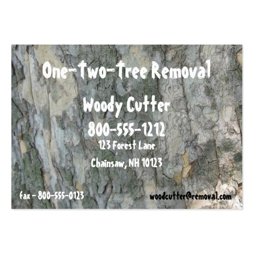 Tree removal large business cards pack of 100 zazzle for Tree removal business cards