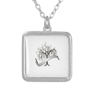 TREE REMOVAL SQUARE PENDANT NECKLACE