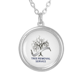 TREE REMOVAL SERVICE ROUND PENDANT NECKLACE