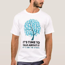 Tree Ribbon Time To Talk About It End The Stigma T-Shirt