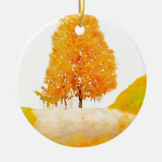 Tree Ridge Double-Sided Ceramic Round Christmas Ornament