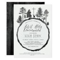 Tree Ring with Deer Communion Invitation