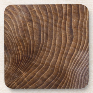 Tree rings beverage coaster