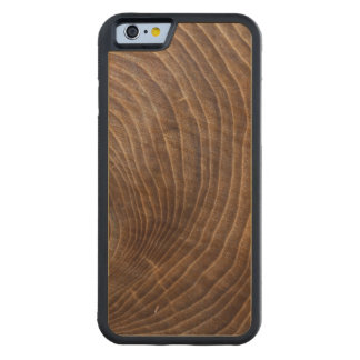 Tree rings carved maple iPhone 6 bumper case