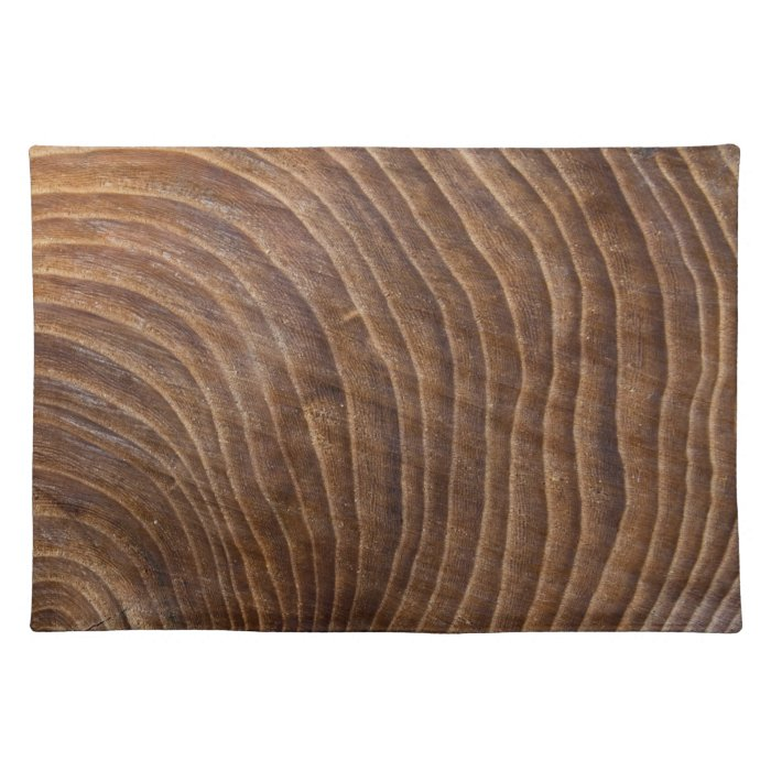 Tree rings cloth placemat