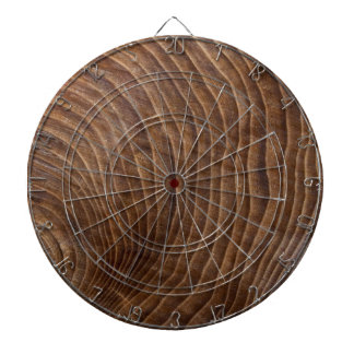 Tree rings dartboard with darts
