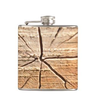 Tree Rings Hip Flask