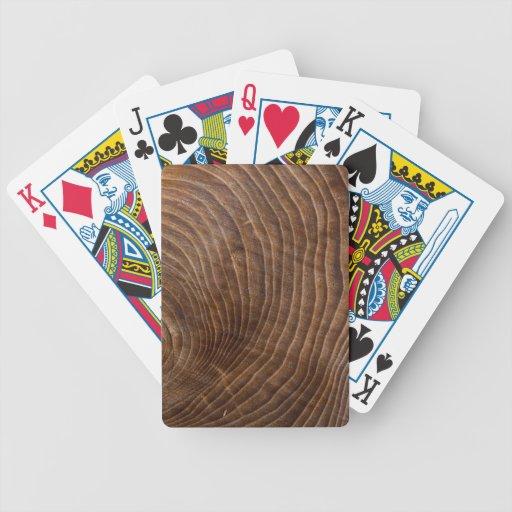 Tree rings poker deck