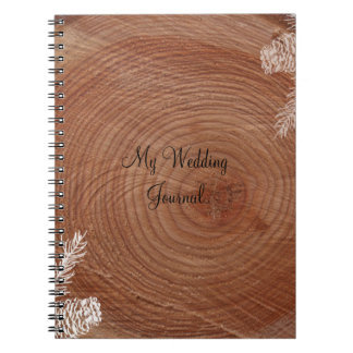 Tree Rings Rustic Country Wedding Journal