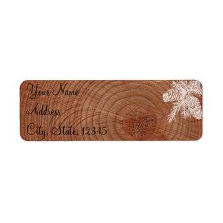 Tree Rings Rustic Country Wedding Label Return Address Label