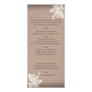 Tree Rings Rustic Country Wedding Menu