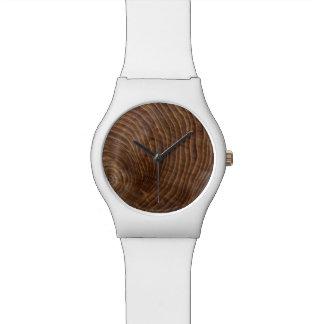 Tree rings wrist watch