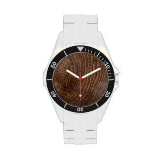 Tree rings wrist watches