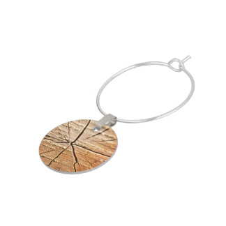 Tree Rings Wine Glass Charm