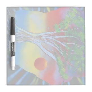 tree rock spacepainting colorful image Dry-Erase board